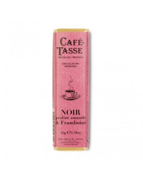Café-Tasse белгийски шоколад, черен с пралина и малини